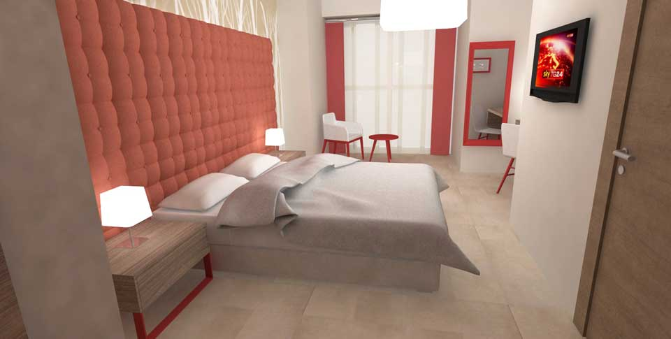 Arredamento camere hotel boario lombardia rmg project studio for Arredamento contract hotel